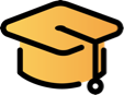 education toga icon yellow