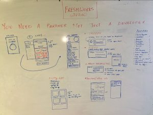 wireframe design for the mobile app