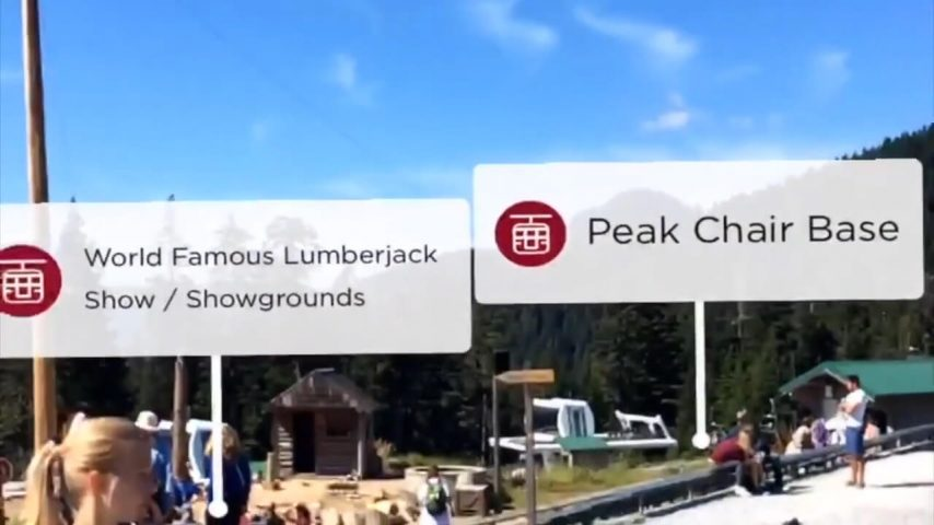 Demonstration of Grouse Mountain Augmented Reality Feature