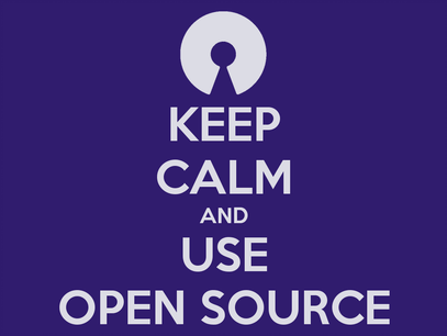 keep calm and use open source graphic