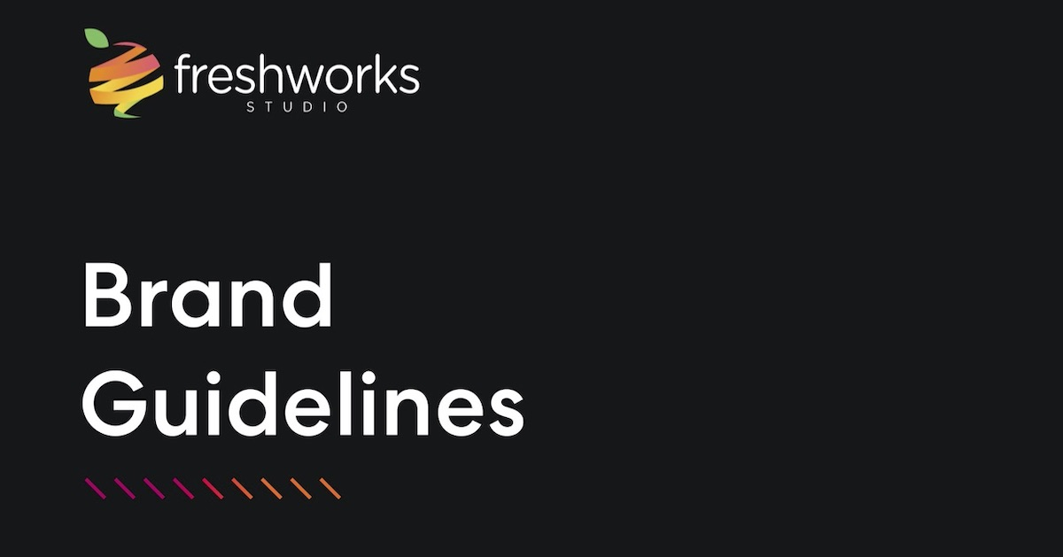 cover page of FreshWorks Studio Brand Guidelines